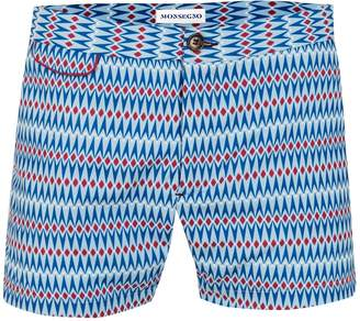 Matteo MONSEGNO Solta Blue and Claret Red Swimshorts