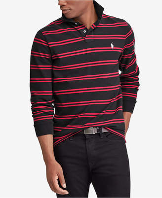 Polo Ralph Lauren Men's Custom Slim Fit Long-Sleeve Striped Polo