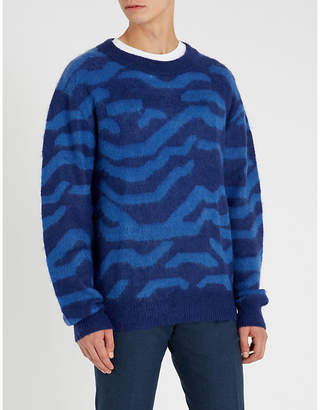 Tiger of Sweden Graphic-print crewneck knitted jumper