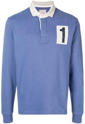 Hackett no 1 patch rugby shirt