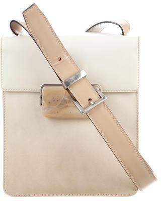 pradaPrada Spazzolato Crossbody Flap Bag