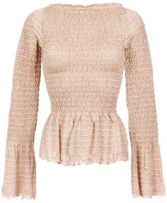 Cecilia Prado gathered knit blouse