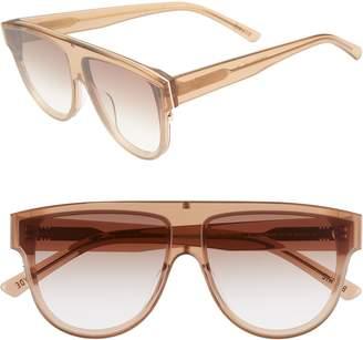 CLYDE BONNIE Continuum 63mm Oversize Flat Top Sunglasses