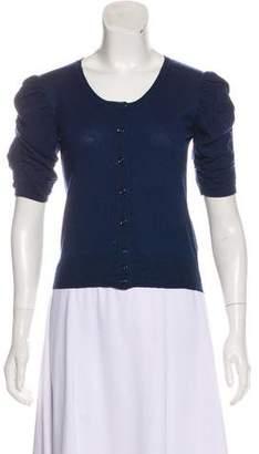 Saint Laurent Wool Short Sleeve Cardigan