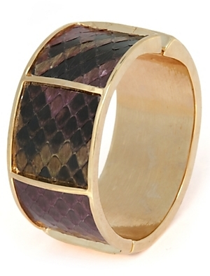Kara By Kara Ross Multi Colored Python Wide Cuff