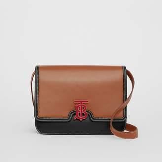 Burberry Medium Two-tone Leather TB Bag