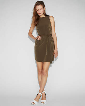 Express Sash Waist Sleeveless Shift Dress
