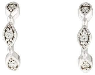 Stone Paris 18K Diamond Yasmine Tiny Hoop Earrings