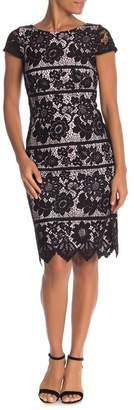 Eliza J Midi Sheath Crochet Dress