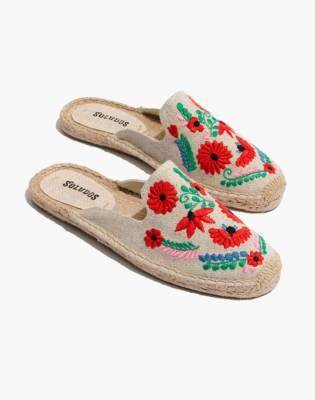 Madewell Soludos Embroidered Ibiza Mules