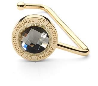 Aspinal of London Handbag Hook In Gold Snake Leather Clear Swarovski Elements