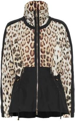 Roberto Cavalli Leopard-print track jacket
