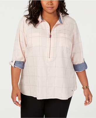 Tommy Hilfiger Plus Size Popover Shirt