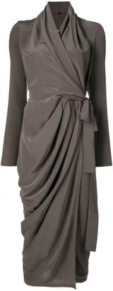 Rick Owens Sisyphus wrap dress