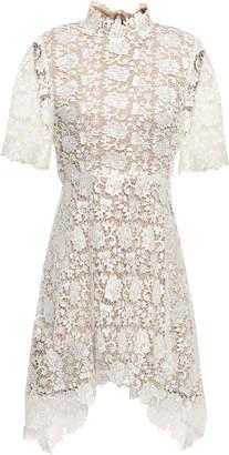Catherine Deane Jeanne Fluted Guipure Lace Mini Dress