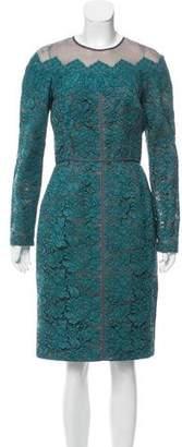 J. Mendel Guipure Lace Knee-Length Dress