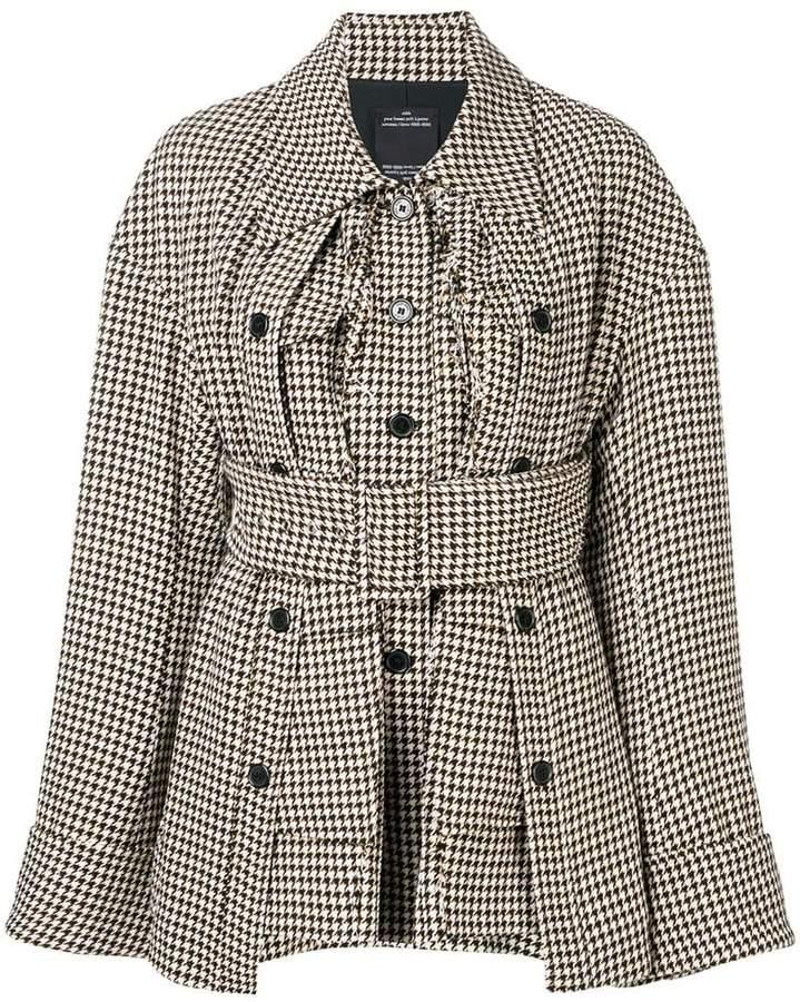 Rokh herringbone fitted coat