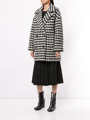 MSGM houndstooth pea coat
