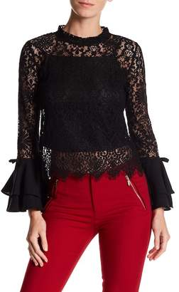 Gracia Layered Bell Sleeve Lace Blouse