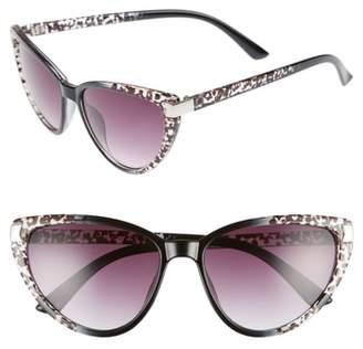 Cat Eye GLANCE EYEWEAR 57mm Spotted Sunglasses