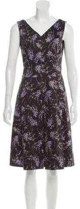 Michael Kors Pleated A-Line Dress Black Pleated A-Line Dress