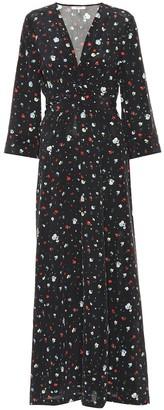 Ganni Nolana floral silk dress