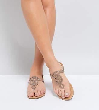 Park Lane Wide Fit Embellised Flat Sandals