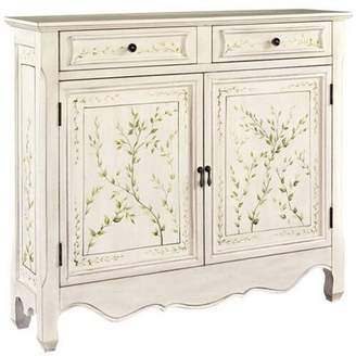 Powell Hand Painted 2-Door Console, White