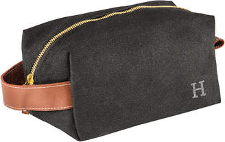 Cathy's Concepts Cathys Concepts Personalized Men's Waxed Canvas & Leather Dopp Kit