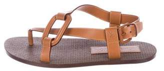 Louis Vuitton Leather Buckle Strap Sandals