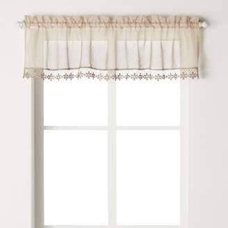 CHF Leanne Macrame Voile Kitchen Window Valance - 58'' x 14''