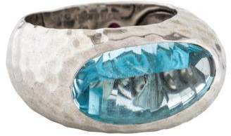 Roberto Coin The Fifth Season by Topaz Hammered Ring