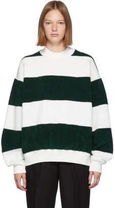 Alexander Wang Green and White Oversized Sweater