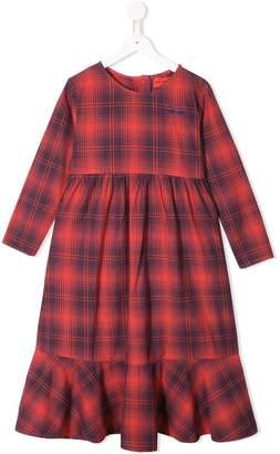 Bobo Choses plaid flared dress