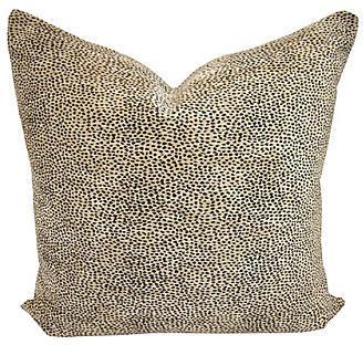 Fragments for Neiman Marcus Identity Cheetah Print & White Linen Pillow