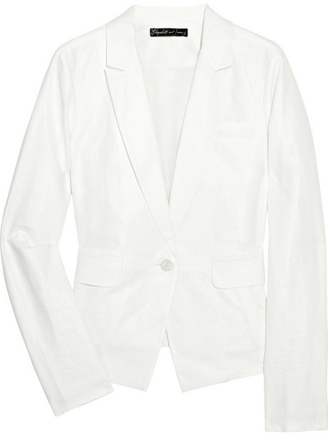 Elizabeth and James Emery linen and cotton-blend blazer