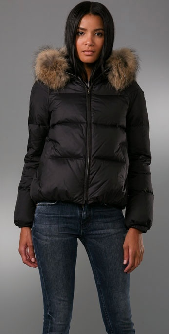 Theory Kimmy Puffy Hooded Jacket