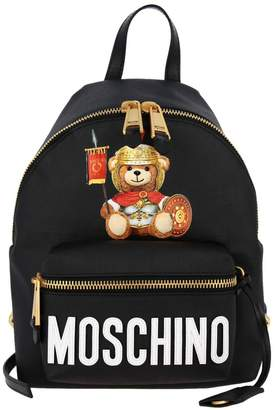Moschino Backpack Backpack In Synthetic Leather With Gladiator Teddy Print