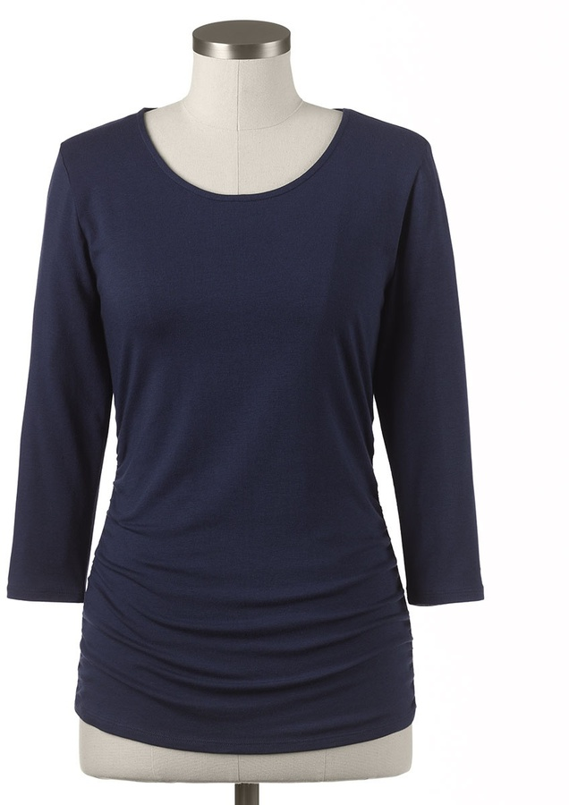 Coldwater Creek Front ruched tee