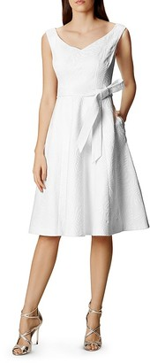 KAREN MILLEN Jacquard Party Dress $360 thestylecure.com