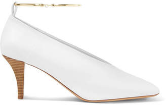 Jil Sander Embellished Leather Pumps - White