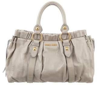 Miu Miu Vitello Satchel Bag gold Vitello Satchel Bag