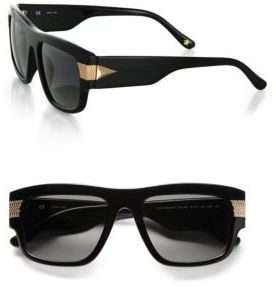 Givenchy Modified Metal-Accented Resin Square Wayfarers