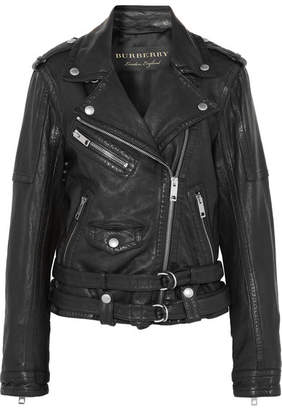 Burberry Washed-leather Biker Jacket