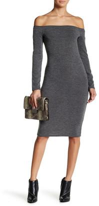 Loveappella Off-The-Shoulder Bodycon Dress (Petite) $79 thestylecure.com