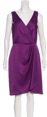Lela Rose Sleeveless Midi Dress Purple Sleeveless Midi Dress