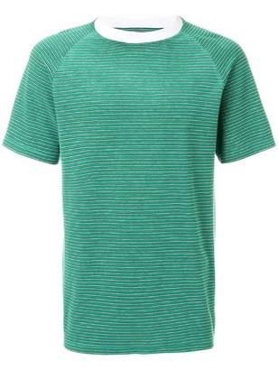 Maison Margiela striped contrast collar T-shirt