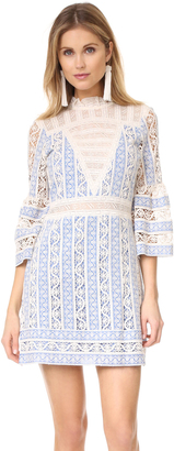 Sea Column Crochet Bell Sleeve Dress $485 thestylecure.com