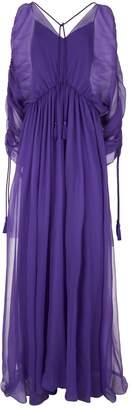 Alberta Ferretti Silk Tassel Detail Gown