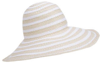 Nine West Striped Floppy Hat
